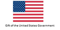US flag and text: Gift of the United States Government